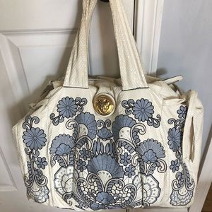 Gucci python embroidered hysteria large bag